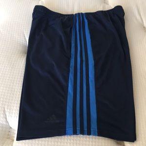 Men Adidas running Navy Blue shorts size L